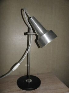 vintage desk lamp table Bauhaus modernist mid century light retro atomic age 70s