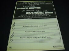 JEAN-MICHEL JARRE says Thanks to FRANCIS DREYFUS original vintage PROMO AD mint