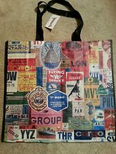 TJ  Maxx World Traveler Aircraft Airline Plane Design Reuse Shopping Tote Bag XL