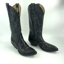 Ladies Nocona Black Leather Pointed Toe Cowboy Western Boots Size: 6.5 / 37