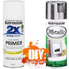 Rust-Oleum Reflective Metallic Silver Bright Leafing Spray Paint & White Primer