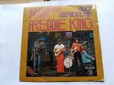 SINGLE FREDDIE KING - WOMAN ACROSS THE RIVER - SHELTER SPAIN 1976 VG/VG+