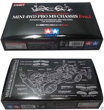 Mini 4wd Pro MS Chassis Evo. I Tamiya Series Limited Edition completa optional