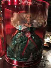Happy Holidays Barbie Special Edition Christmas Green Dress Doll 1995 14123 NEW