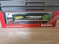 (Box K5) Herpa 144674 LKW H0 1:87 MB Actros Sattelzug Höhlschen OVP