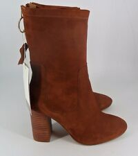 H&M Suede Ankle Boots- Dark Orange UK5 EU38 BT01 09