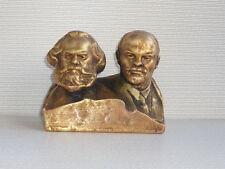 Russian bust of communistic leaders LENIN & MARX H=11cm