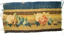 A Gorgeous Antique Tapestry Border w/ Flowers