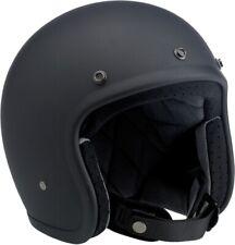 BILTWELL BH-BLK-FL-DOTXS Bonanza Open Face Solid Color Helmets XS Flat Black