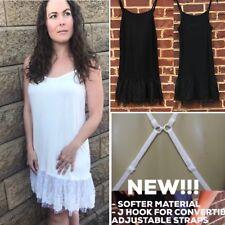 Lace Dress Extender Slip Dress White Polka Dot Tulle Black Sleeveless Slip Dress