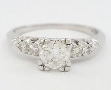 0.67 ct Vintage Platinum Transition Cut Diamond Engagement / Fashion Ring