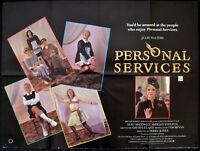 PERSONAL SERVICES 1987 Julie Walters, Alec McCowen UK QUAD POSTER