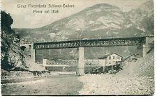 Primi '900 Linea Ferroviaria Belluno-Cadore Ponte sul Maè  FP B/N