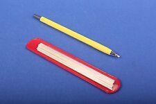 Set 1x Glasfaserradierer 2 mm gelb + 12 Glasfaser-Ersatzpinsel Polierstift