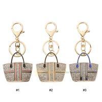 Crystal Rhinestone Keychain Keyring Charm Pendant Purse Bag Key Ring Chains Gift