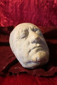 DEATH MASK OF MAN FACE EUROPEAN MORBID ODDITY GOTHIC CREEPY GRAVE COFFIN
