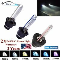 2x D4S 35W 6000K HID Xenon White Replacement Low/High Beam Headlight Bulbs NEW