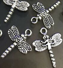 15 Silver Pewter Dragonfly Charms Pendant 20x16mm ~ Lead-Free ~
