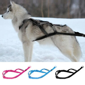 Sled Dog Training Harness X Back Large Weight Pulling Harness Fleece/Nylon L-XL