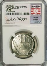 2014-D 50c Wade Boggs Baseball Hall of Fame NGC MS70 Early Releases
