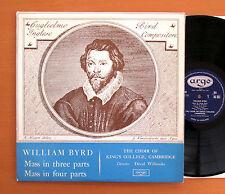 RG 362 William Byrd Mass In Three Four Parts King's College Argo ED1 Mono NM/EX