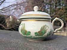 Gorgeous Richard Ginori SIENA GREEN Roosters Pots de Creme Porcelain