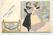Lessieux - 1830 - Couple dansant - Joueuse de Harpe