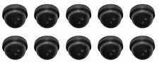 10 x Dummy Round Fake Camera With Led Outdoor Indoor Security CCTV