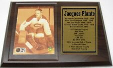 Montreal Canadiens Jacques Plante Hockey Card Plaque