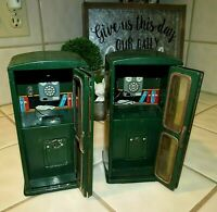 Vintage (2) 1950's Line Mar Toys Tin Telephone Booth Banks, Made in Japan Rare!