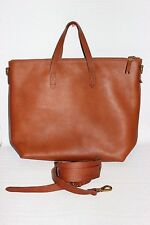 NEW Madewell $188 Transport Satchel in English Saddle Brown Leather Bag b2135