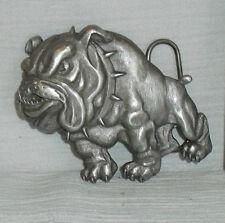 Siskyou Belt Buckle BULLDOG Vtg 1992 Bull Dog Mascot Pewter