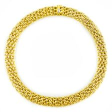 Estate 18k Yellow and White Gold Flexible Link Necklace by FOPE | 101 grams