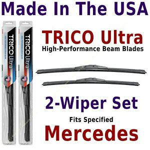 Buy American: TRICO Ultra 2-Wiper Blade Set fits listed Mercedes-Benz: 13-24-19