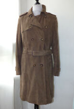 Manteau facon trench en cuir marron TARA JARMON