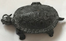 A Very Nice Antique Novelty Metal Vesta Case In The Form Of A Tortoise.