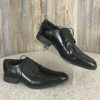 """Studio Via Spiga """"Laconi"""" Men's 8.5D Black~Leather~Oxford~Lace-Tie~Dress Shoes"""