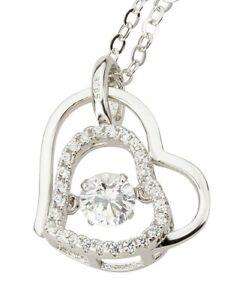 Damen Halskette mit Anhänger Herz Modeschmuck Fashionschmuck Trend Herzkette