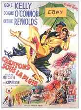 SINGIN (SINGING) IN THE RAIN  POSTER - FRENCH ART- UNIQUE  AT EBAY- ONLY  $6.99
