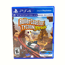 RollerCoaster Tycoon: Joyride (Sony PlayStation 4, PS4) *GAME DISC & CASE*