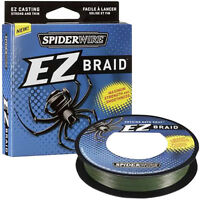 Spiderwire EZ Braid Fishing Line (110 yds) - 50 lb Test - Moss Green