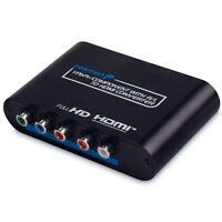 RGB RCA Component to HDMI AV Converter Adapter Box for VHS DVD PS 2 3 Xbox Wii