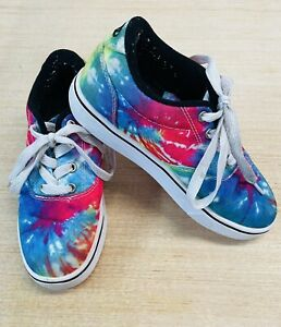 HEELYS Launch Multicolor Tie Dye Low Top Skate Shoes Youth Size Yth 2