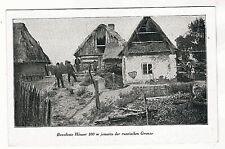 AK. 1.WK. Postkarte, Bewohnte Häuser 100m jenseits der russischen Grenze