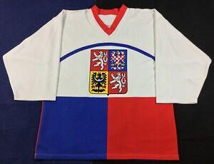 Winter Olympics Team Czech Republic Dominik Hašek #39 Hockey Jersey SizeXL