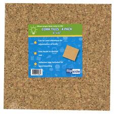 "Cork Tiles, 6"" x 6"", Set of 4"