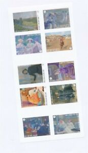 D146454(1) Belgium Imperforate Booklet Pane MNH Paintings Art
