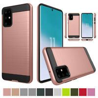 For Samsung Galaxy S20 S10 S9 S8 Plus S7 S6 Shockproof Rubber Rugged Cover Case