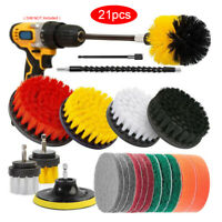 21pcs Drill Brush Electric Attachment Set Power Scrubber Cleaning Cleaner Tools