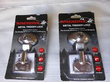 Two Winchester Metal Trigger Locks w/ Keys - Firearm Safety Devices